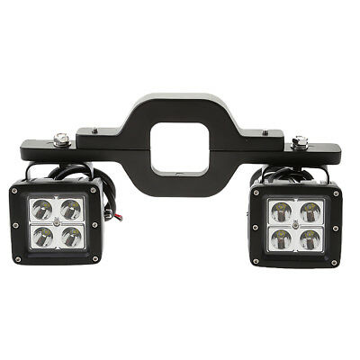 2X 18W LED Backup Reverse Light and Tow Hitch Brackets For 4x4 Truck SUV ATV
