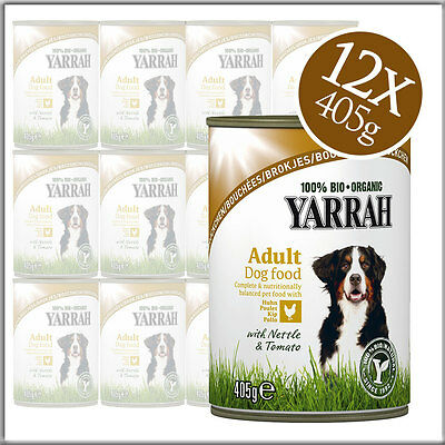 YARRAH bröckchen Bio Dog Food with Chicken and Tomato Wet Food for Dogs 405g