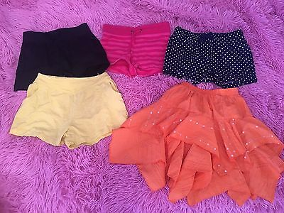 4 x girls shorts plus sequence skirt - Size 3