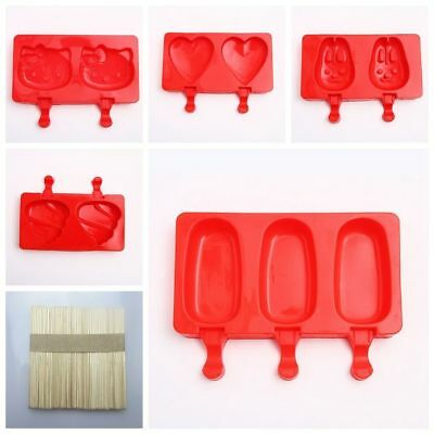 Ice Lolly Maker Frozen Mould Popsicle Chocolate Tray Pop Ice Cream Mold Silicone
