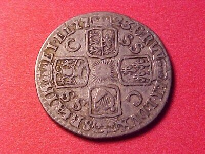 Great Britain 6 Pence Silver 1723 South Seas Co George I Nice
