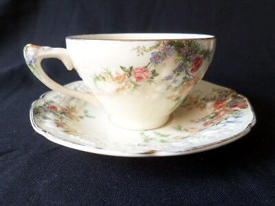 Crown Ducal. Rosalie. Tea Cup & Saucer. Made In England.