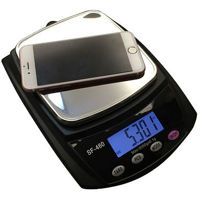 Small High Precision Electronic Kitchen Scale Black SF-460 11LB 5kg 5000g/ 0.1g