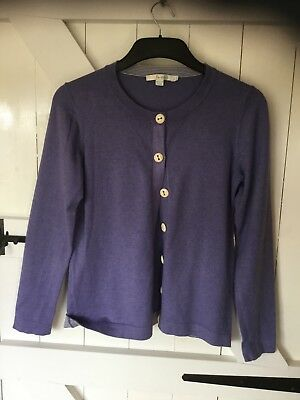 BODEN LADIES Mid Blue Cardigan Size 12 Cotton