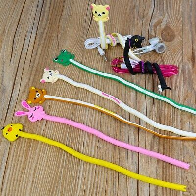 2ps Animal Earphone Headphone Wrap Cord Wire Cable Holder Winder Organizer