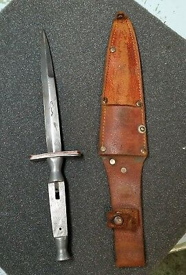 Collectable Vintage Old Valor #53 Or#535 Dagger Knife Japan With Sheath