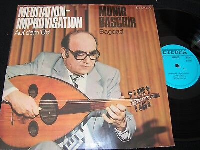 MUNIR BASCHIR Meditation-Improvisation.../ DDR Reissue LP 1980 ETERNA 835085