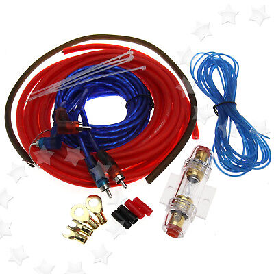 PRO 800W Car Amplifier AMP Wiring 60A Fuse Audio Sound Cable Set