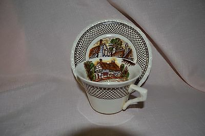 "Vintage Myott Son & Co Hanley "" Shakespeare Land""  Duo"