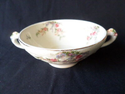 Crown Ducal. Florentine. Rosalie. Soup Bowl with handles. Made In England.