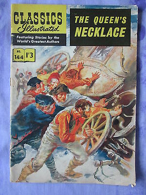 Classics Illustrated The Queen's Necklace Alexandre Dumas No. 144 UK 1/3