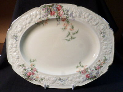 Crown Ducal. Florentine. Rosalie. Large Serving Plate. Made In England.