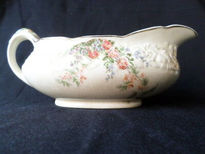 Crown Ducal. Florentine. Rosalie. Gravy Boat. Made In England.
