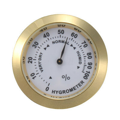 Round GOLD Color Smoking Tobacco Hygrometer Humidity Gauge for Cigar Humidors EM