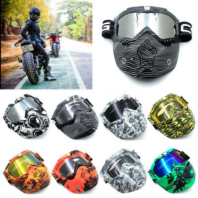Motorcycle Dirt Bike Off Road Riding ATV Anti-UV Flexible Face Mask Goggles