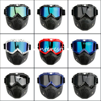 Motorcycle Face Mask Goggles Riding MX ATV Dirt Bike Flexible Glasses Protector