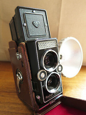 Vintage Rollei Magic Medium Format TLR Film Camera & Rolleiflash 1960s