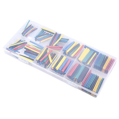 180Pcs Heat Shrink Tubing 2:1 Tube Sleeving Wrap Wire Kit 5 Colors 1-13mm Cool