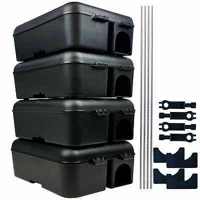 Roshield 4 x Professional Rodent Rat Mouse Bait Box Station for Poison or Traps