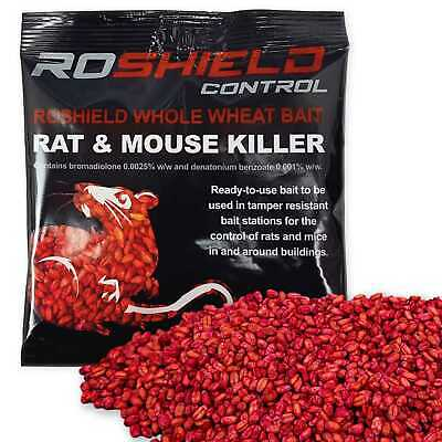 1 x 100g Rotech Bromadiolone Whole Wheat Grain Poison - Rat Killer Control Bait