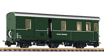 Liliput L344400 - DR 6w Baggage Car in Dark Green - New (009/HOe Narrow Gauge)