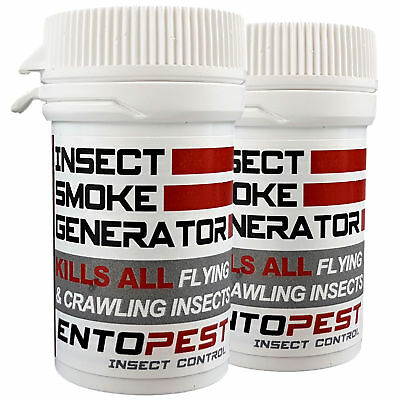 3 x GREENHOUSE SMOKE GENERATOR RED SPIDER MITE GREEN WHITE FLY BUG PEST CONTROL