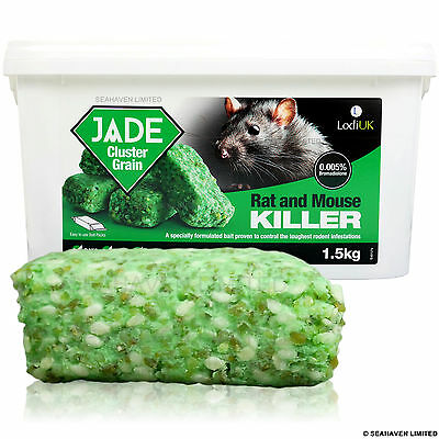 1.5kg Jade Cluster Grain Poison Killer Block Packs for Rat & Mouse Control