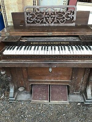 Antique piano organ