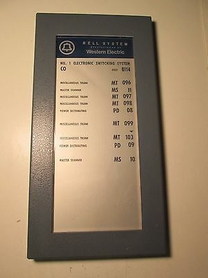 Vtg Bell System Switching System Glass & Metal Sign Western Electric Computers