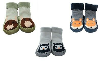3 Pairs of Baby Boys Girls Infant Slipper Grip Socks Anti-slip for 6-24 Months