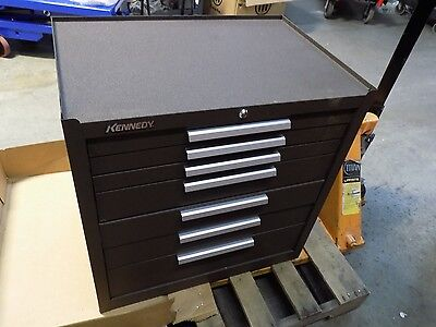 "Kennedy Roller Cabinet Tool Box 7 Drawer 35"" x 29"" x 20"" Steel Brown #297B"