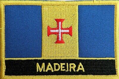 Portugal Madeira Flag Embroidered Patch Badge - Sew or Iron on