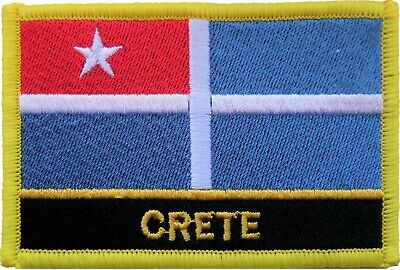 Greece Crete Flag Embroidered Patch Badge - Sew or Iron on