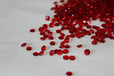 50000 x RED 4.5MM WEDDING DIAMOND CONFETTI TABLE DECORATION UK SELLER