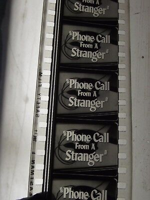 Phone Call From A Stranger 35mm Movie Trailer (FLAT). B&W 1952 Bette Davis.