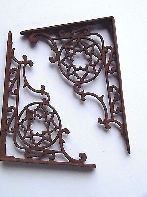 Vintage Cast Iron Shelf Brackets