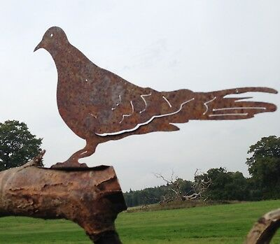 Metal Dove Bird Fence / Post Topper Garden Ornament