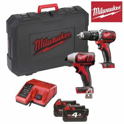 Powerpack M18BPP2D-402C Milwaukee visseuse+visseuse à chocs+2 batteries 18V 4Ah