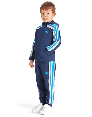Adidas Baby Kids Boys Toddler Hojo Tracksuit Set Play Gym Cotton Hooded New