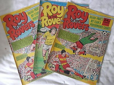 ROY OF THE ROVERS comic 3 issues (1985)