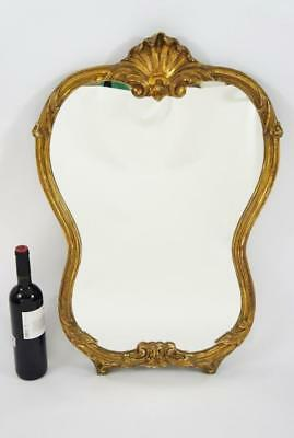 Reproduction French Gesso & Giltwood, decorative wall  mirror 77cm x 52 cm