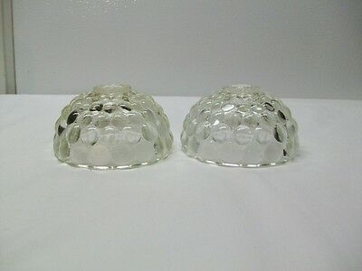 Vintage Anchor Hocking Glass Bubble Pattern Candlestick Holders