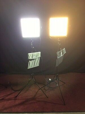Litepanels 1x1 Bi-Color Flood & Mono Daylight Spot LED Kit with Accessories