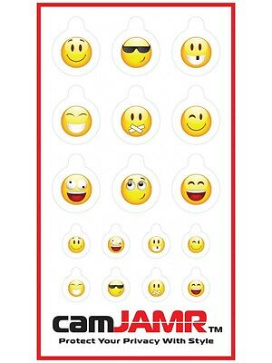 Webcam Covers. Protect Online Privacy. camJAMR Smiley Pack