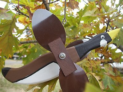 Goose Mini Whirligigs Whirligig Windmill Yard Art Hand made from wood