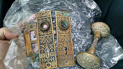 Antique Matching Brass Door Knobs Matching Door Plates and Strike Plate