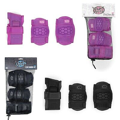 XOOTZ Kids 6 Pce Pad Set Protect Safety Gear Scooter Skateboard BMX Cycle Elbow