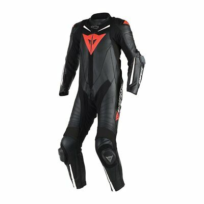 Dainese Laguna Seca D1 1-pc Perforated Mens Leather Race Suit Black/Black/White