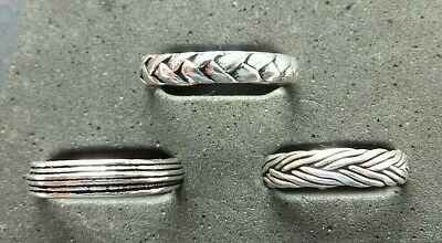 SOLID SILVER TOE RING, 3 designs *STRONG/STURDY* weave, plait, stripe
