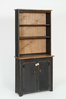 Primitive Rustic Country Wooden Small Hutch And Cabinet   Amish Made   9  Colors